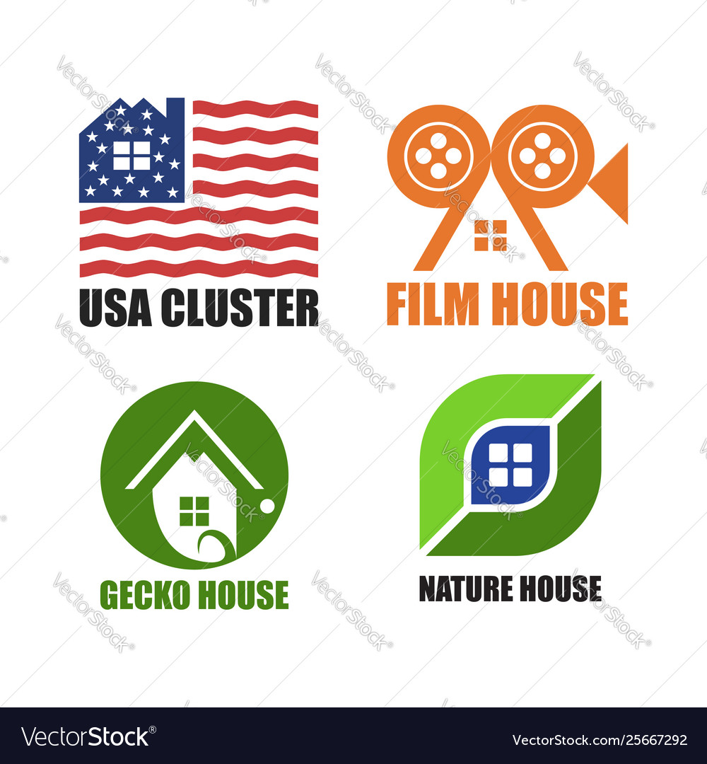 House logo unique set design