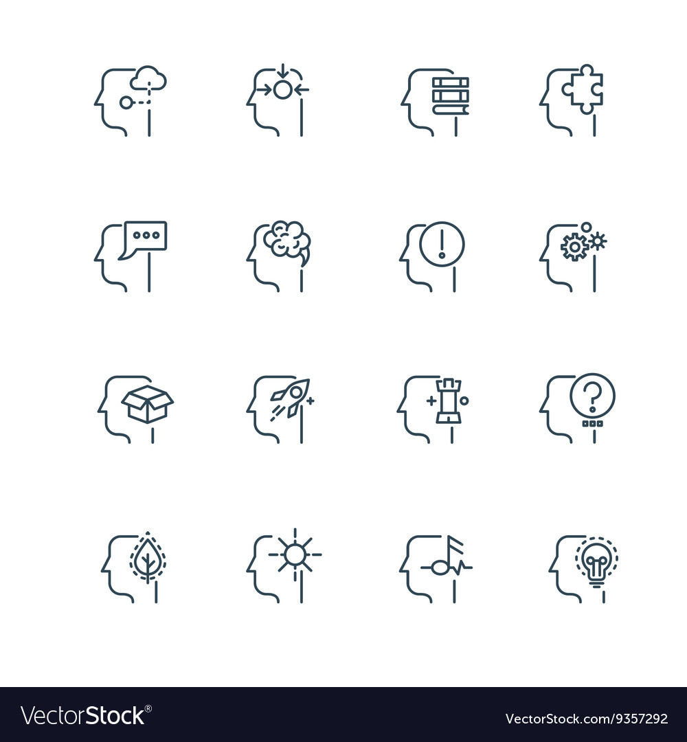 Idea business strategy and management line thin vector image