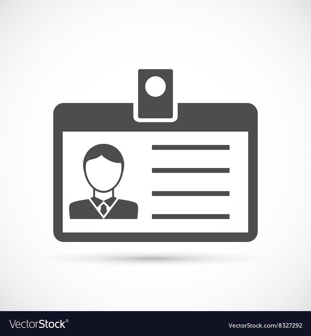 Identification card for man icon