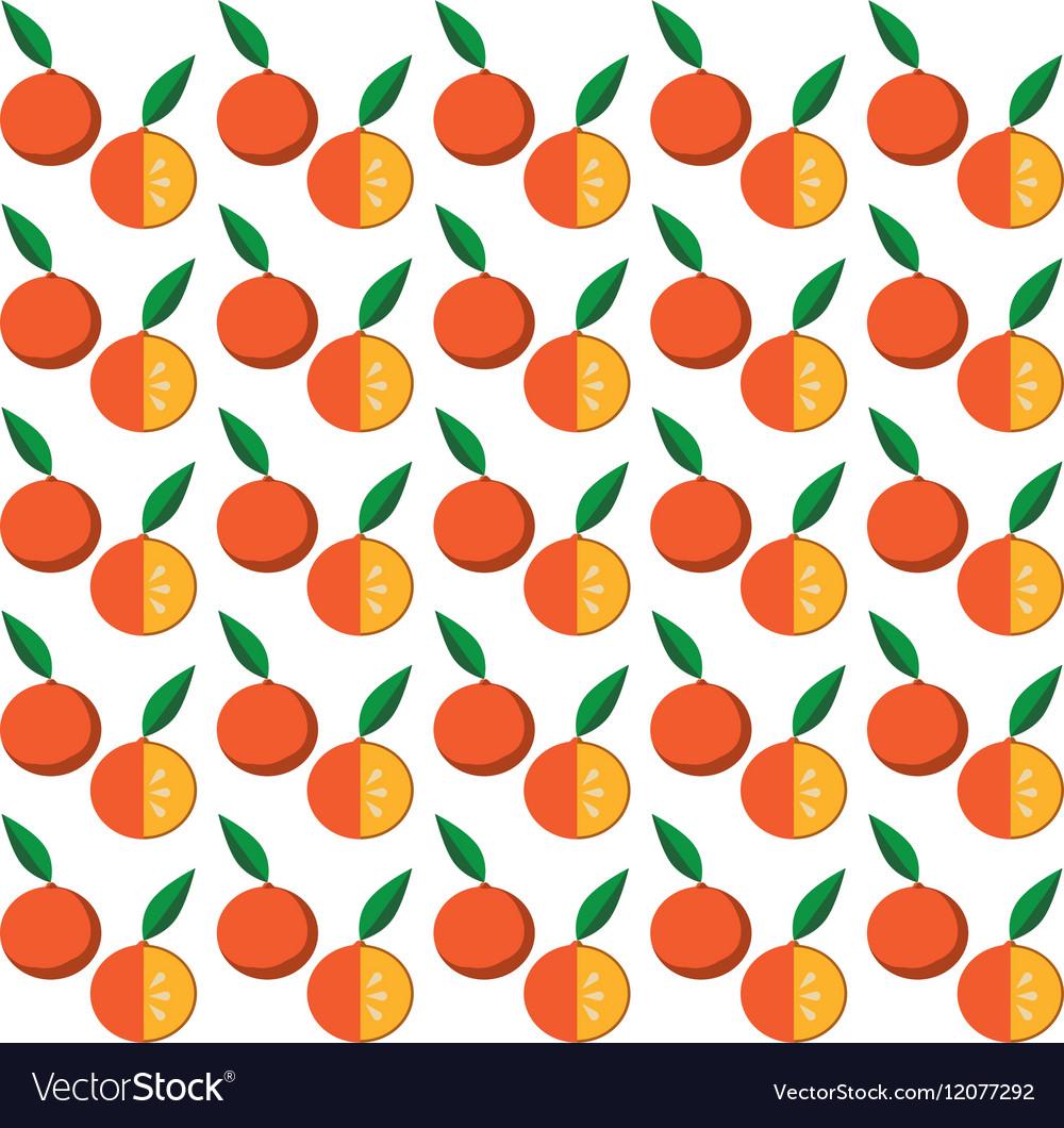 Orange citrus seamless pattern