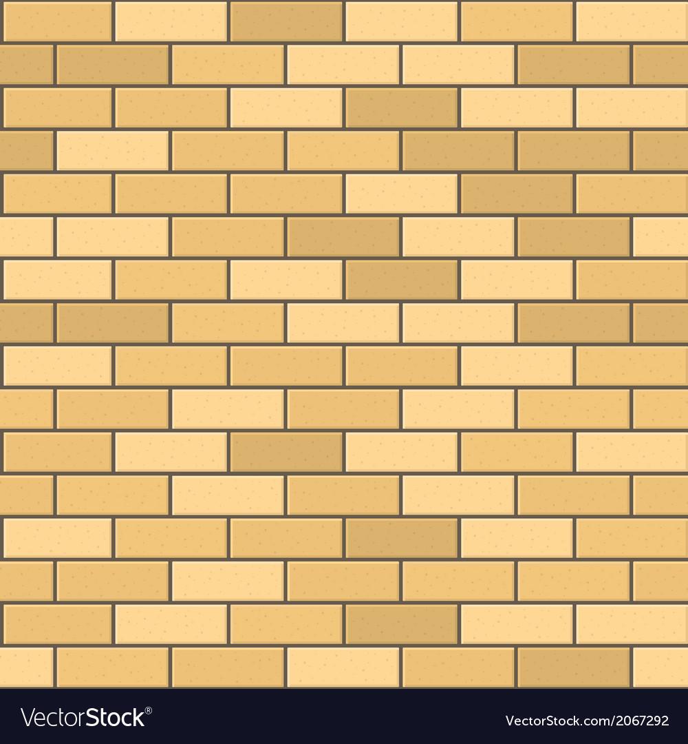 Seamless Pattern of Yellow Brick with Dark Seam