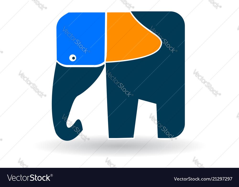 Artistic elephant shape icon