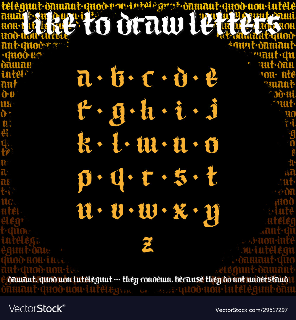 Blackletter calligraphy font new odern gothic