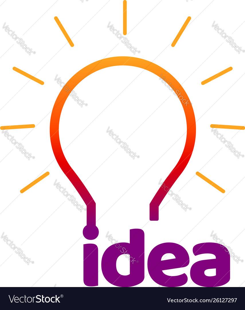 Colorful idea bulb lamp logo symbol