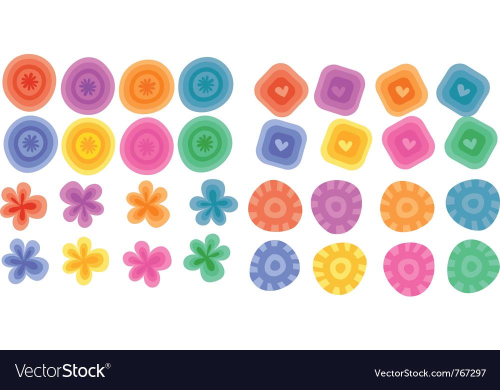 Floral element prints