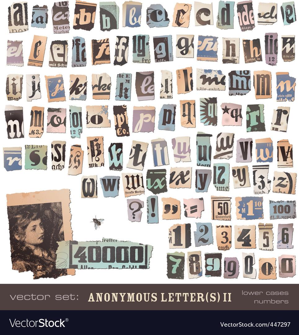 Newspaper alphabet 2