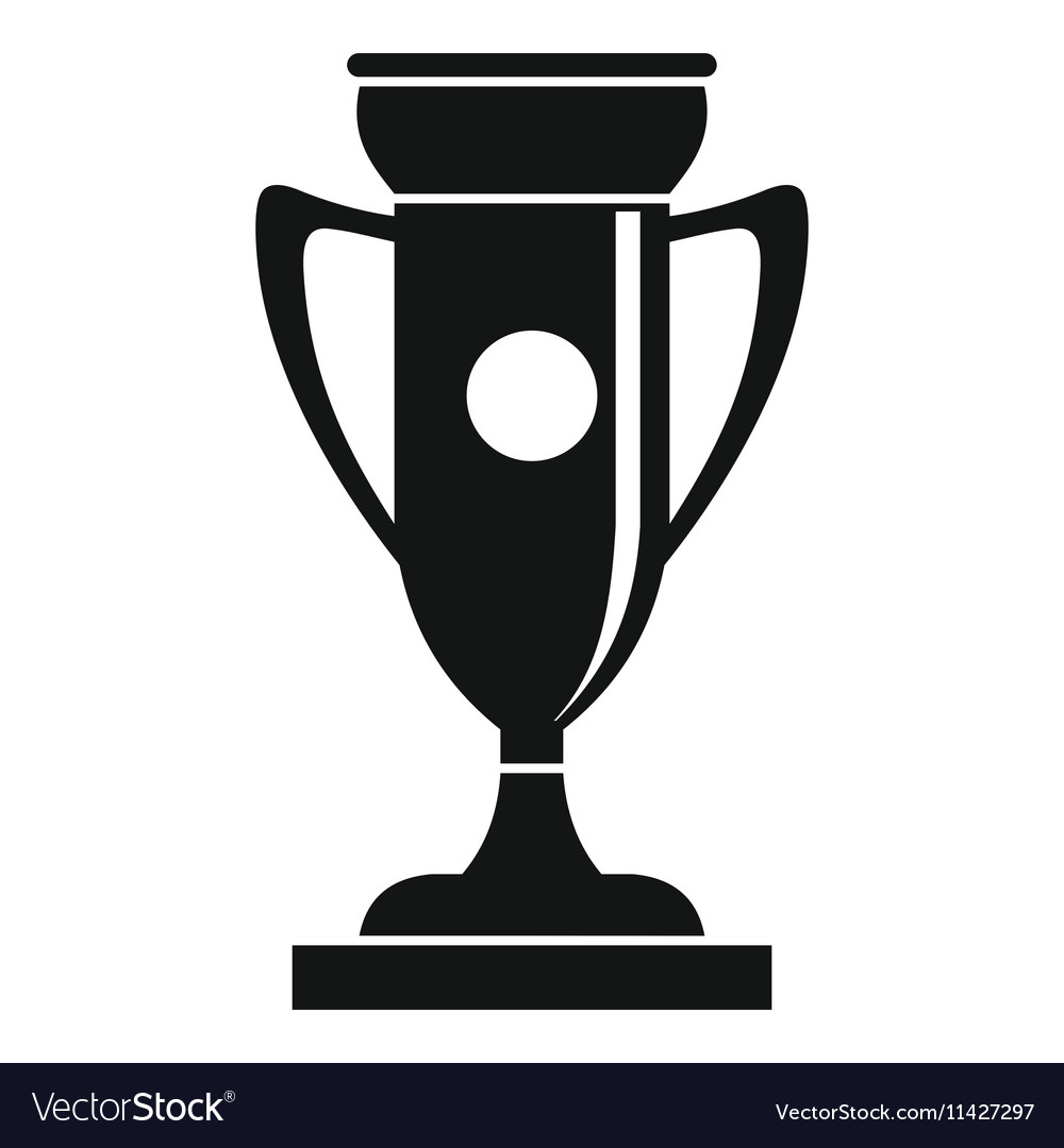 Winning cup icon simple style vector image