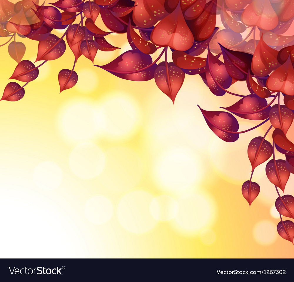 a stationery with heart shaped leaves royalty free vector