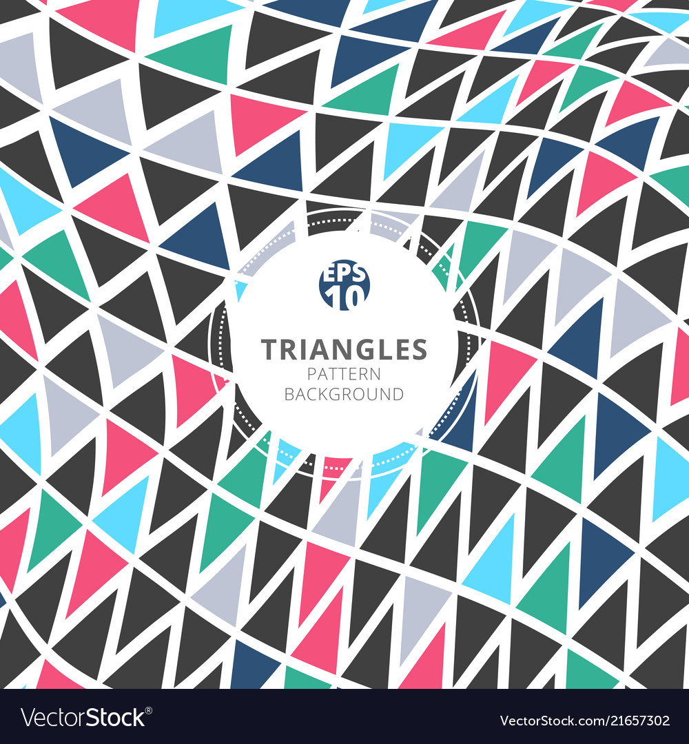 Abstract triangles pattern retro color style on