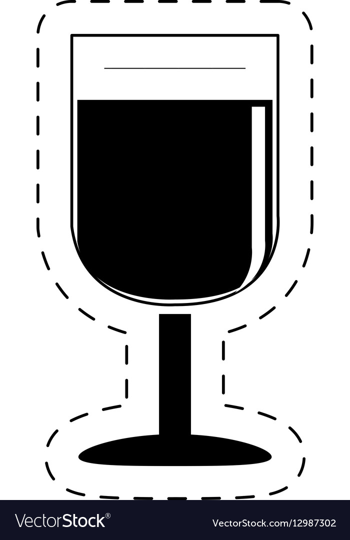 Glass cup wine beverage pictogram
