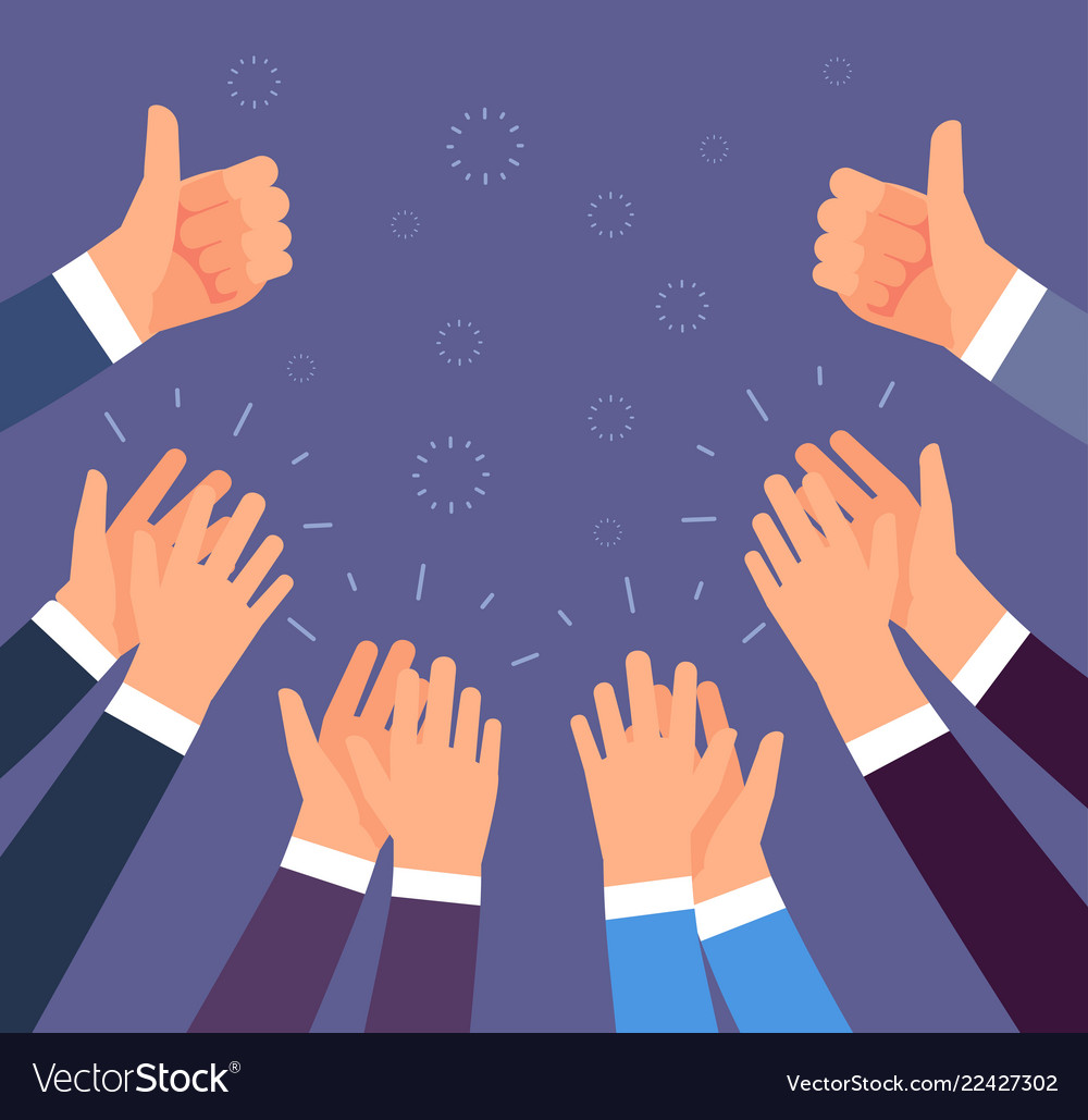 Hands Clapping Thumbs Up And Applause Gestures Vector Image Hey i'm back and i thought to share my love of kpop with you. vectorstock