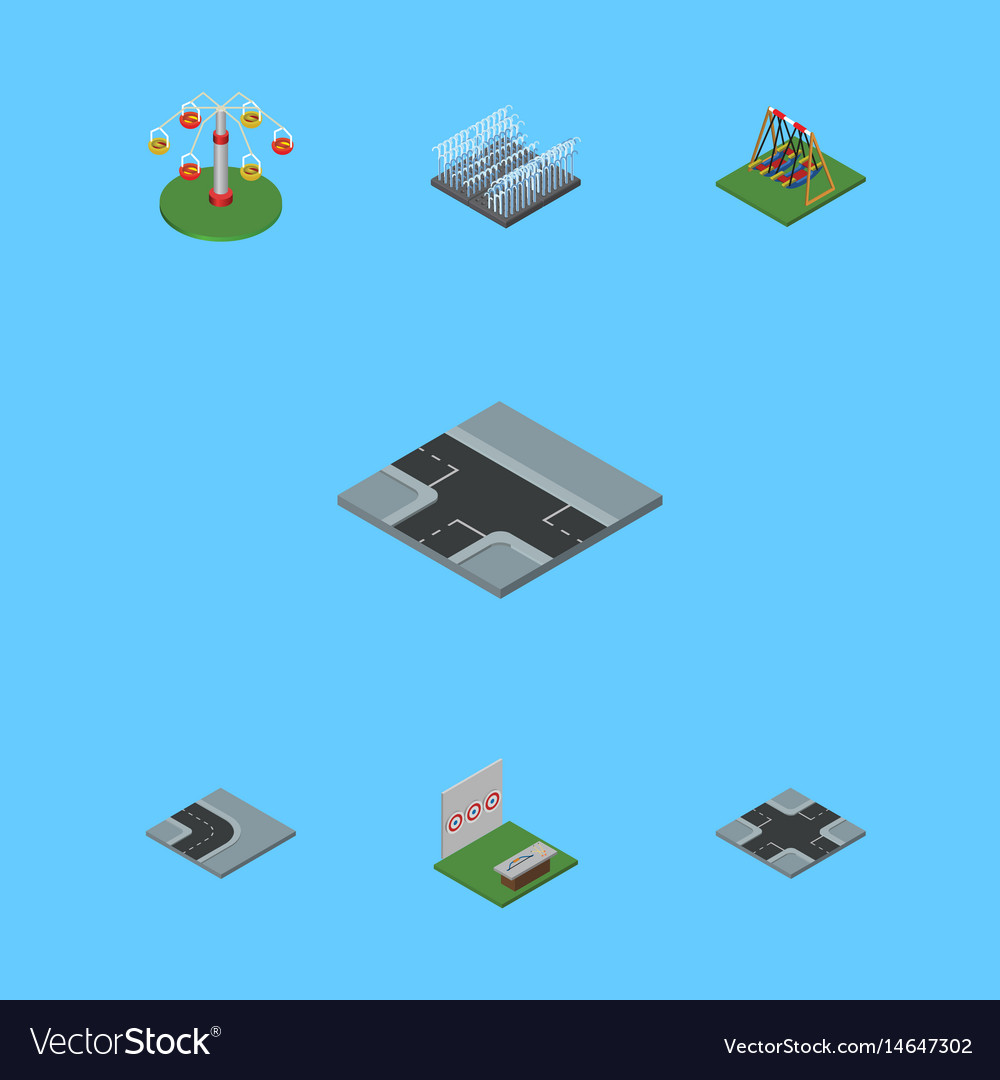 Isometric urban set of swing attraction aiming