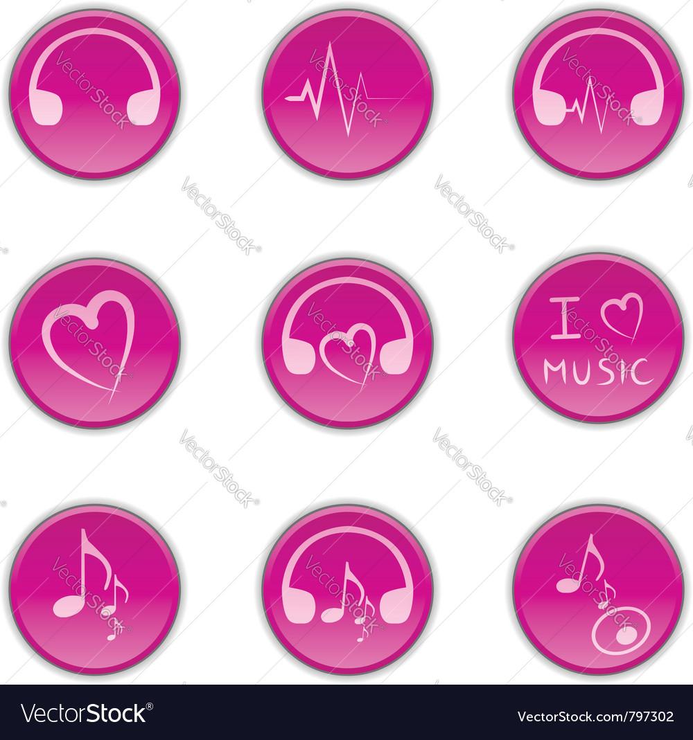 Music theme icons