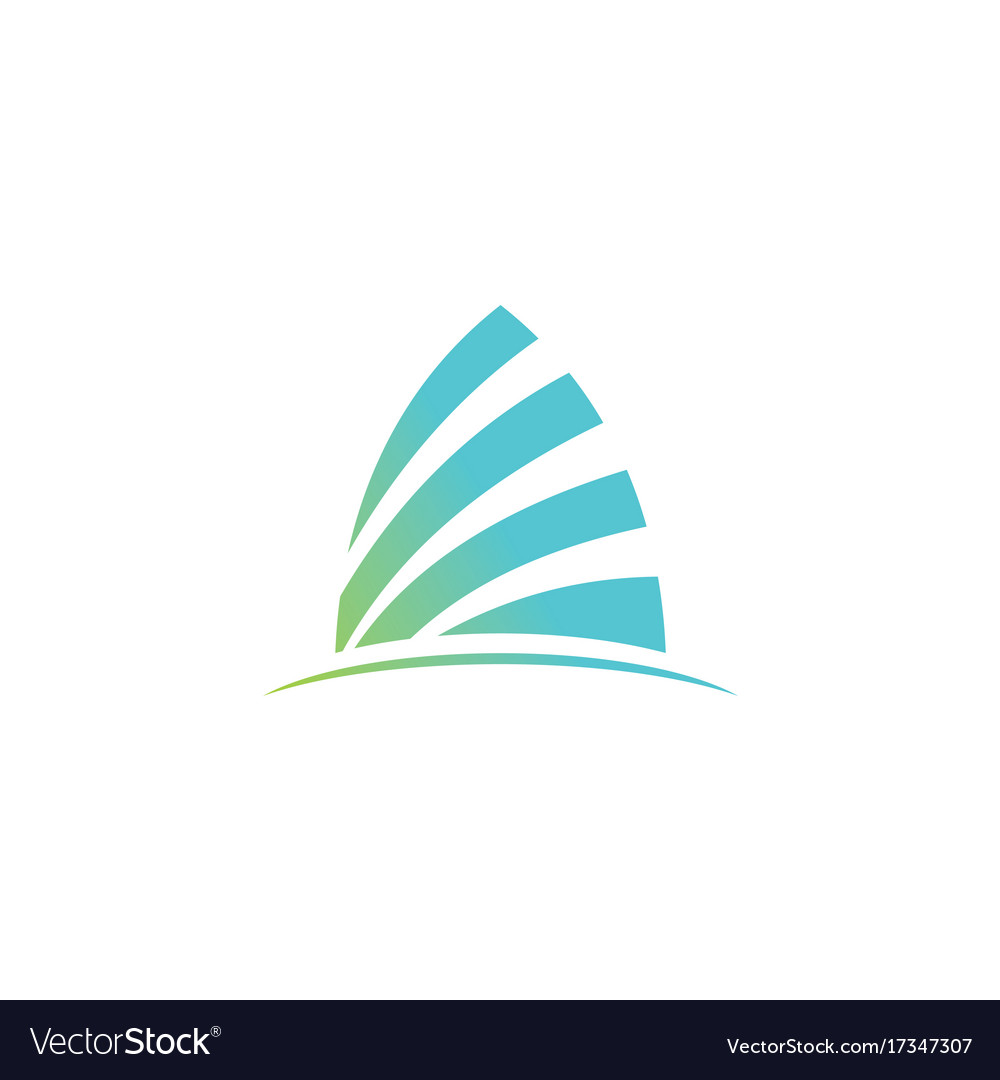 Arch shape logo vector image