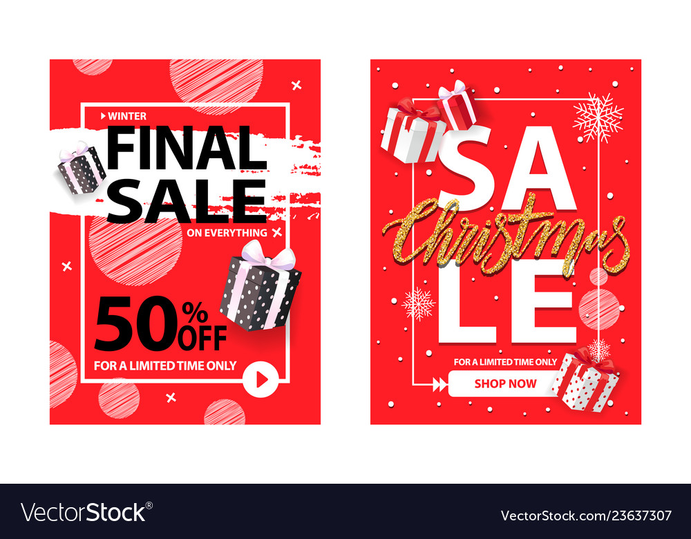 Christmas sale for a limited time brochure