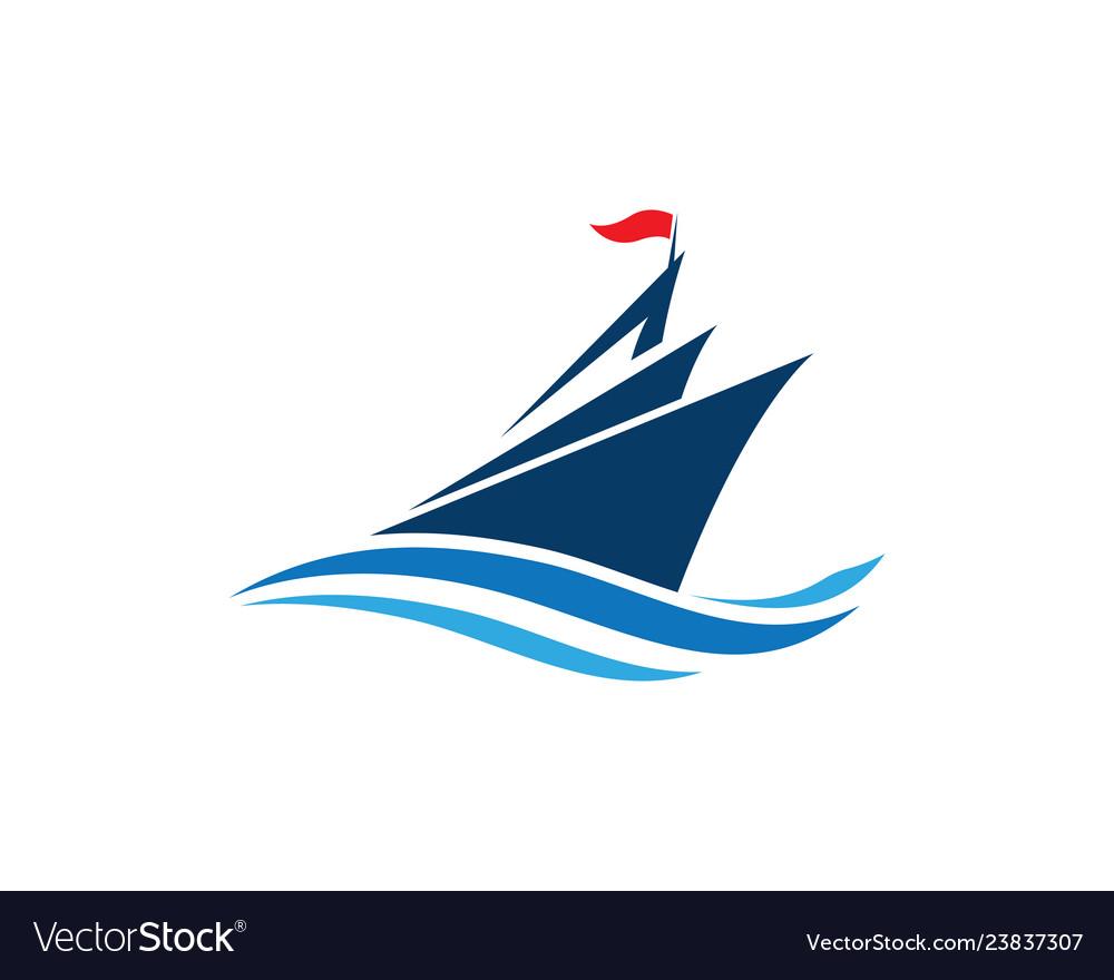 Cruise ship logo template icon