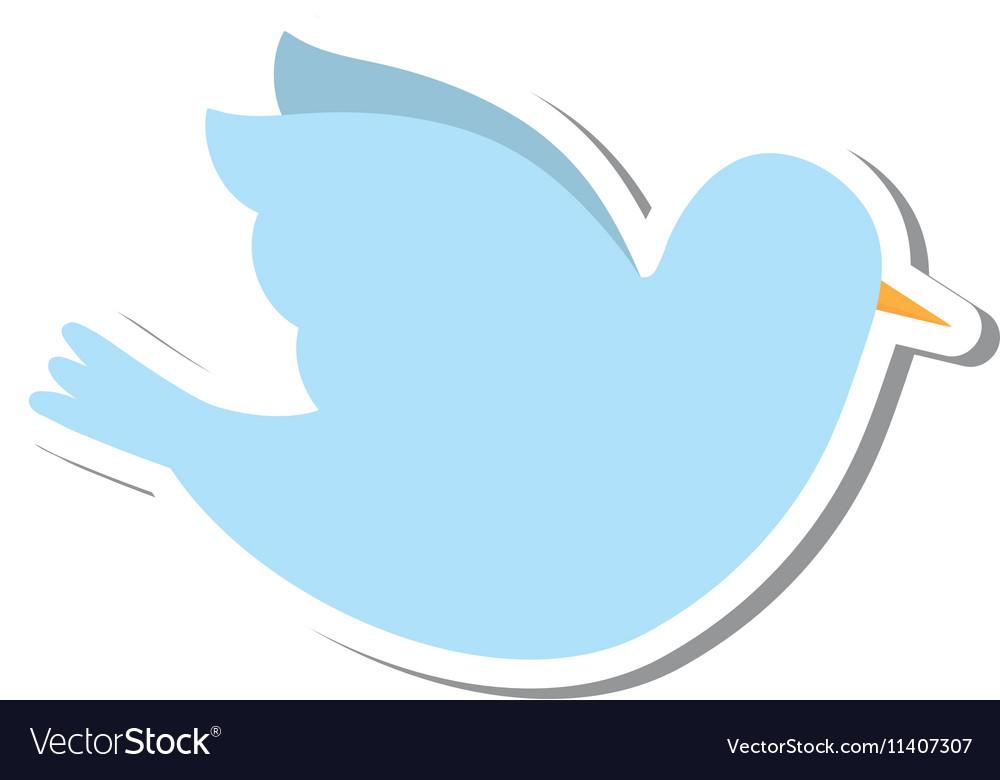 Dove bird isolated icon