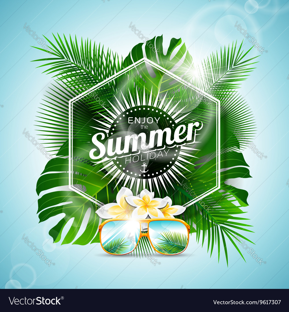 Enjoy the Summer Holiday typographic design vector image