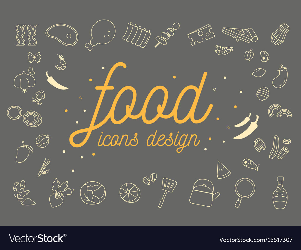 Food icons design set