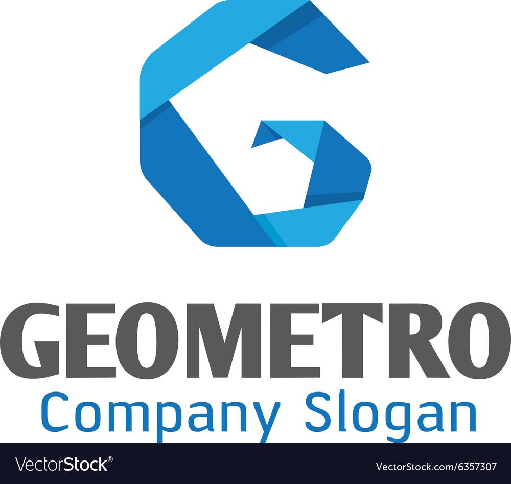 Geometro Logo Vector Image