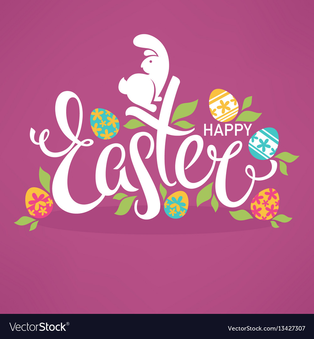 Happy easter bright design template for your vector image