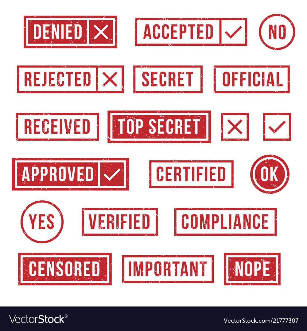 Rubber stamps official compliance resolution