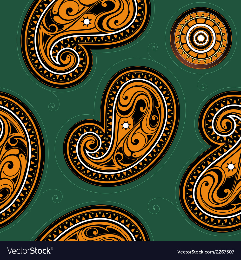 Seamless backdrop with ethnic ornament