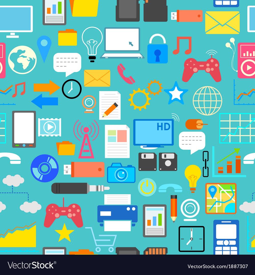Seamless Social Media Pattern