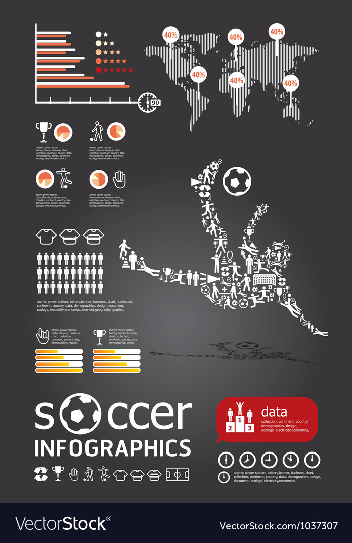 Soccerr info graphic4 vector image