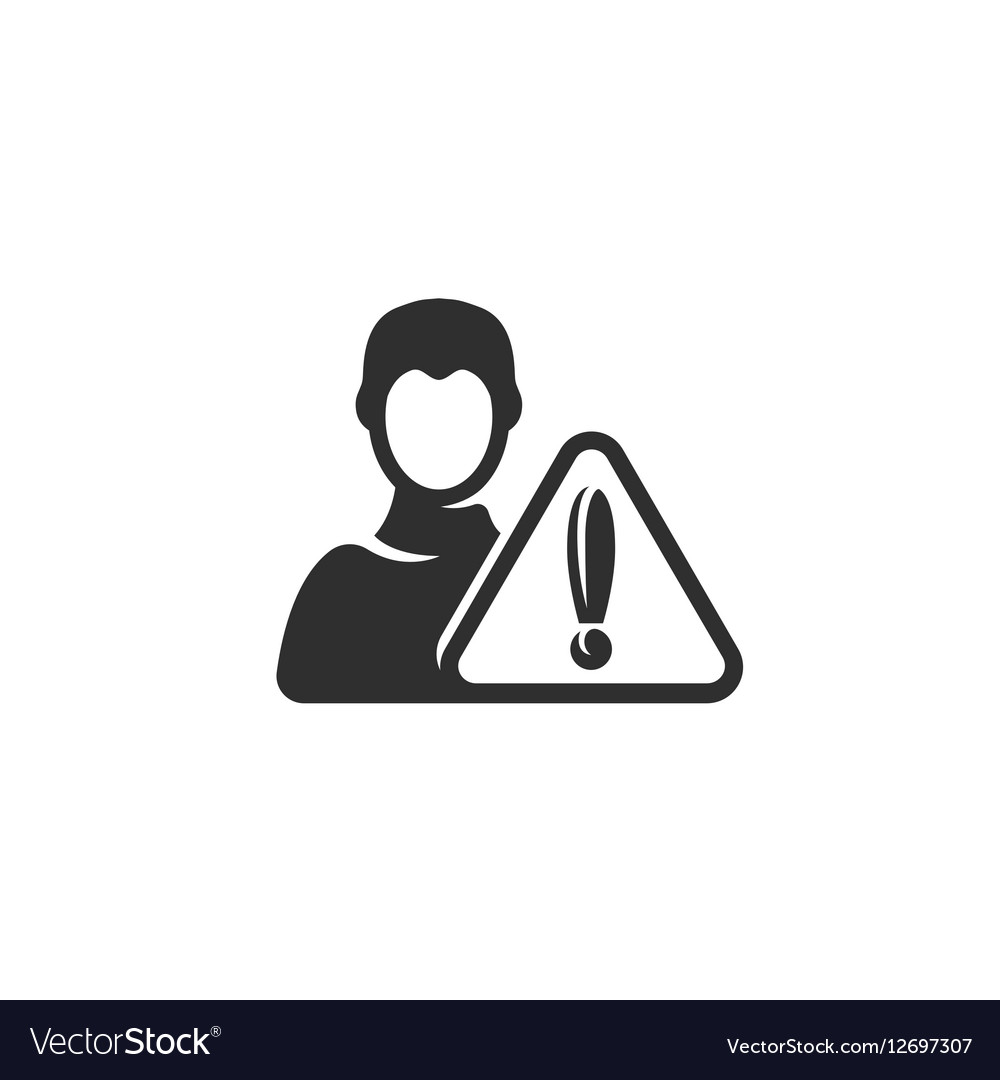 Warn user icon isolated on a white background