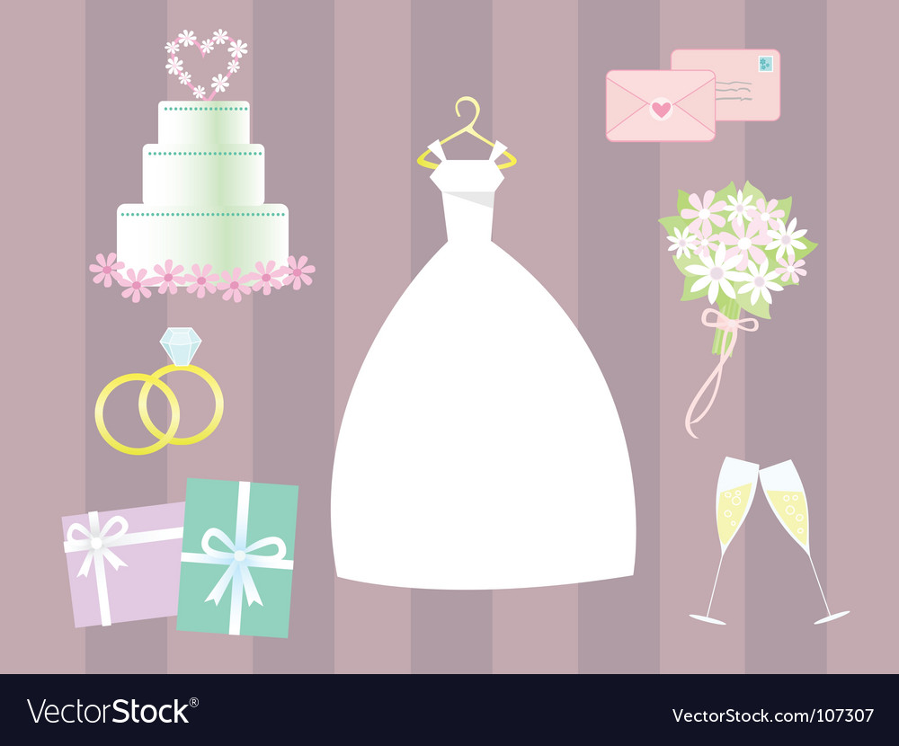 Wedding clip art vector image