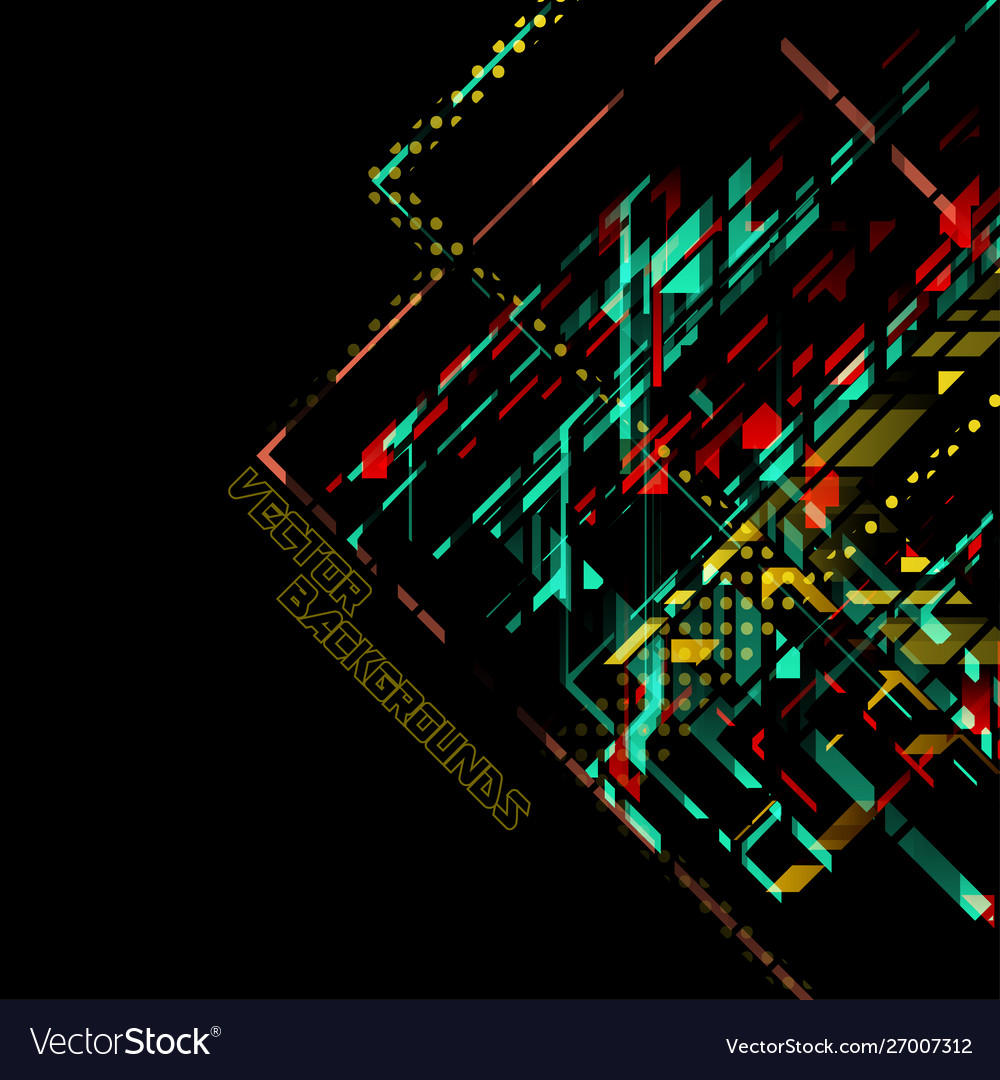 Abstract colors concept on a black