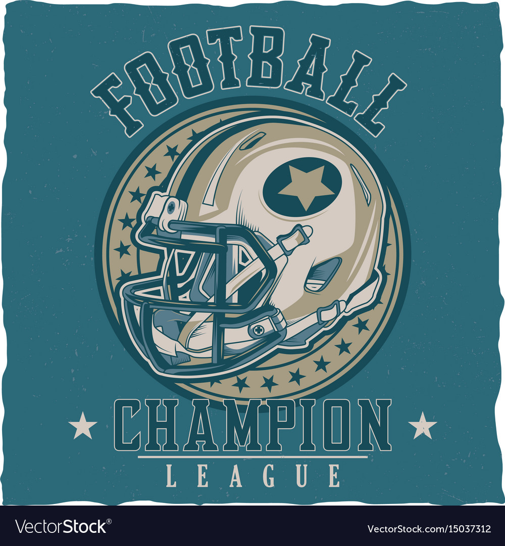 American football t-shirt label design Royalty Free Vector c18b5046a
