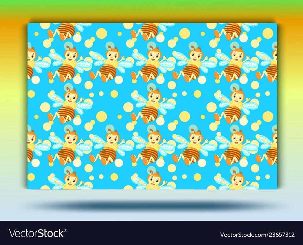 Background bee patternset