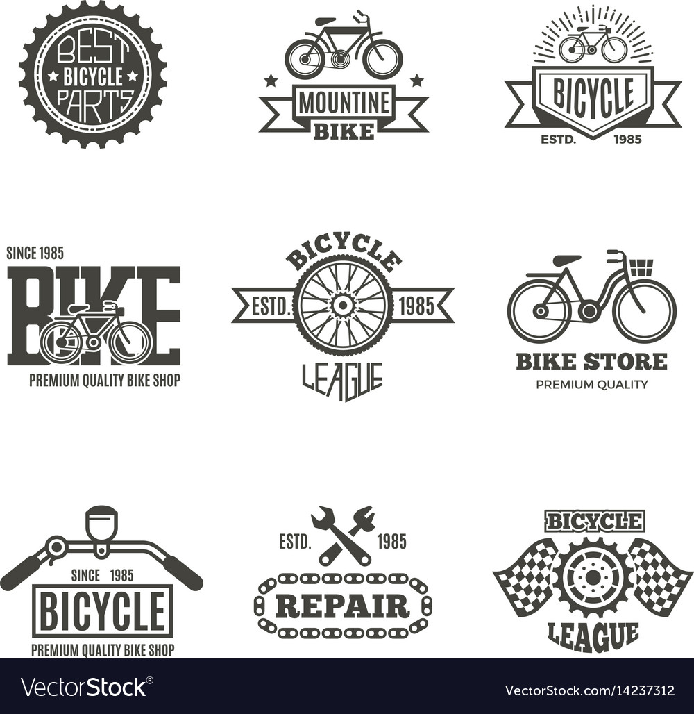 Bike shop bicycle biking vintage labels