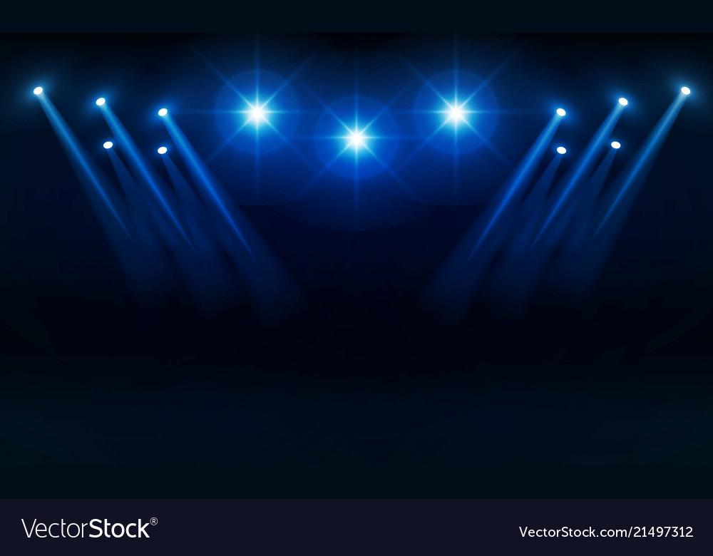 Bright stadium lights design illumination vector image