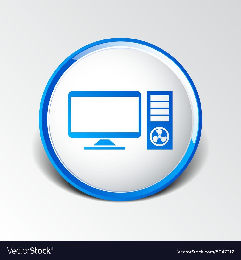 Desktop Computer Icon Pc Symbol Laptop Royalty Free Vector