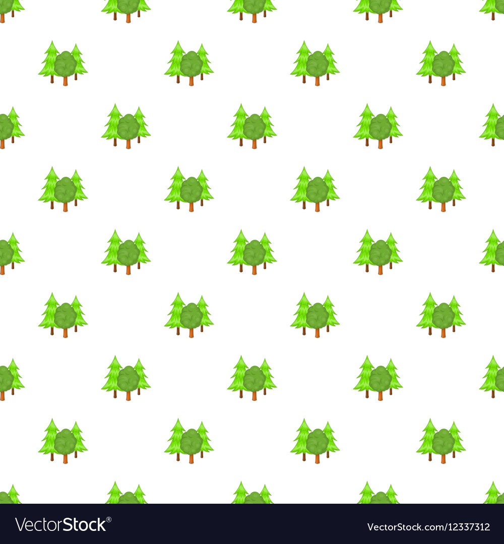 Forest trees pattern cartoon style