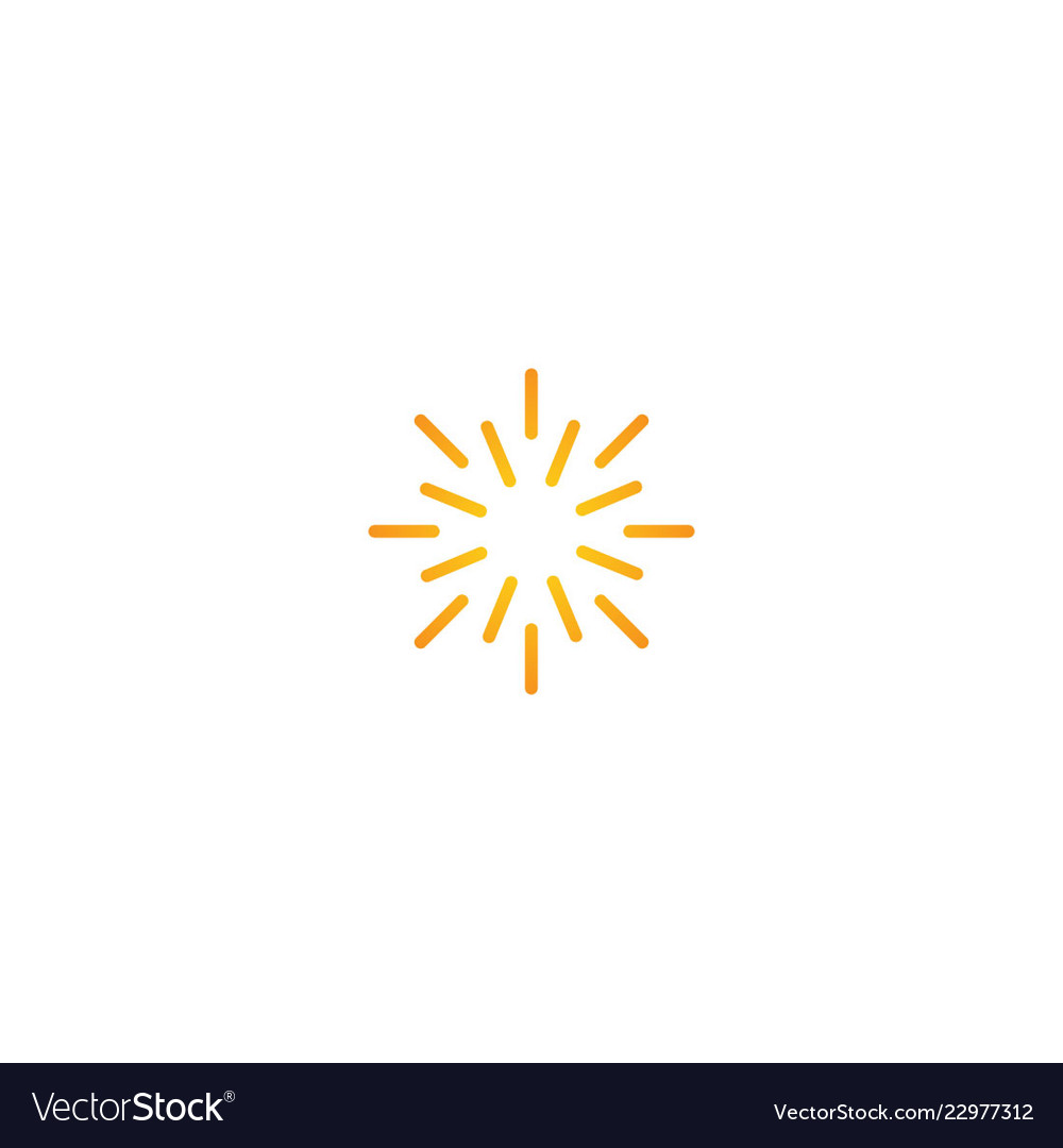 Line sun shine abstract logo