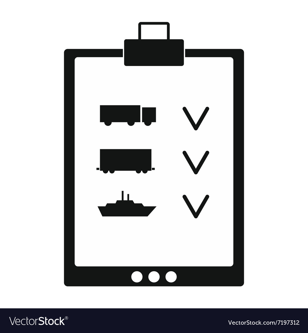 Notepad notebook with to do list black simple icon vector image