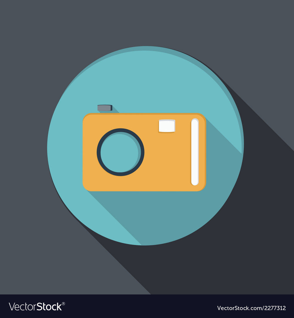 Paper flat icon with a shadow photo camera