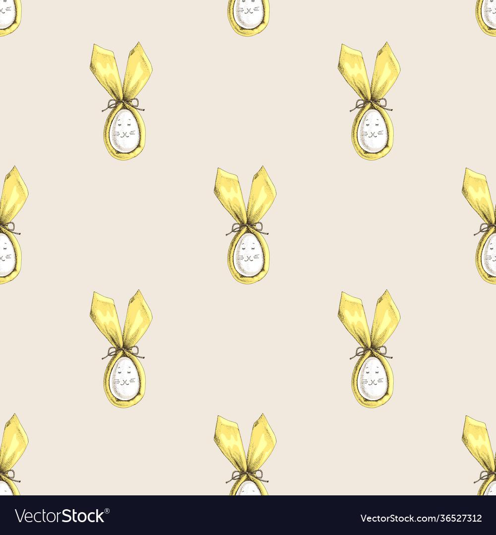 Seamless easter bunny ears pattern