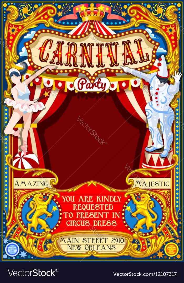 Circus Carnival Theme Vintage 2d Aurielaki