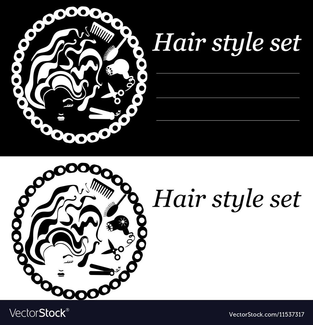Hair Style Logo Royalty Free Vector Image Vectorstock