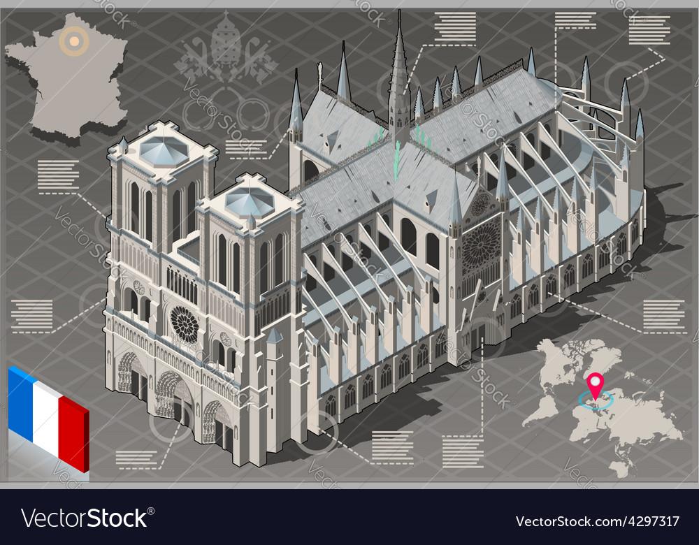 Isometric Infographic Notre Dame de Paris - HD