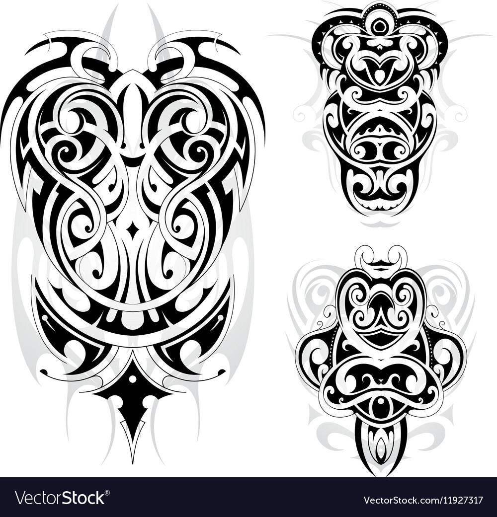 946285c4bad3c Maori tribal tattoo set Royalty Free Vector Image