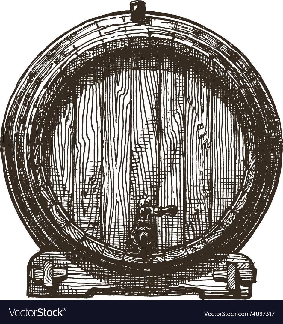 Oak barrel logo design template beer or