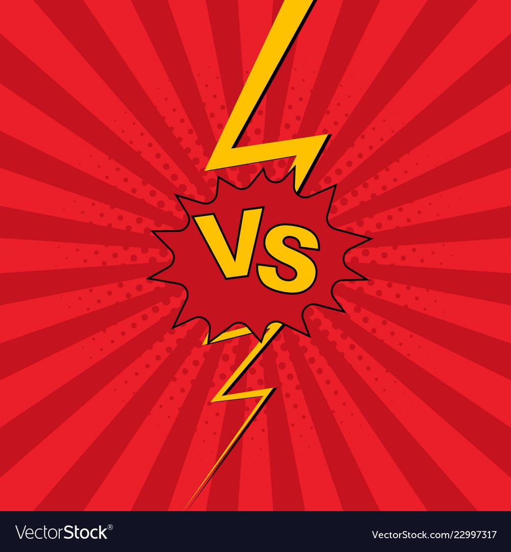 Versus vs lettering fight background