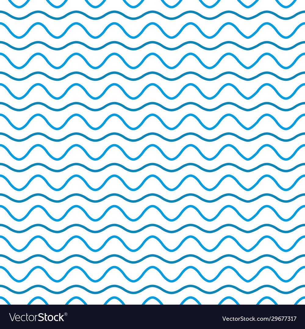 Wave line and wavy zigzag pattern