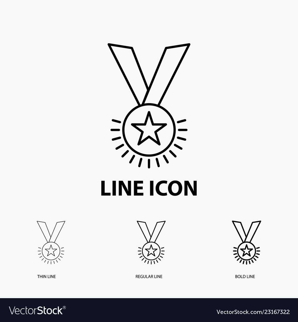 Award honor medal rank reputation ribbon icon in